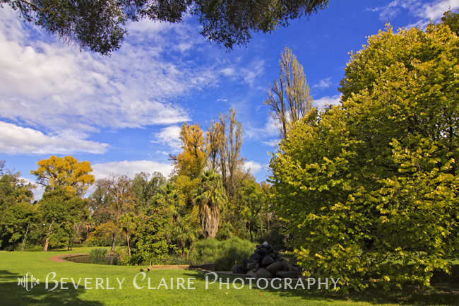 View of Fitzroy Gardens in East Melbourne Australia