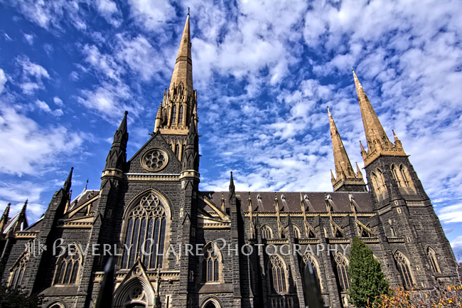 Gothic Revival Style St Patrick's Cathedral in Melbourne