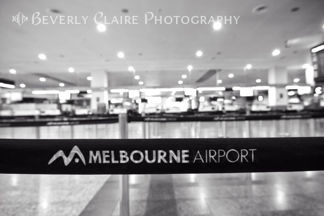 Empty Queuing Lanes at Melbourne Airport