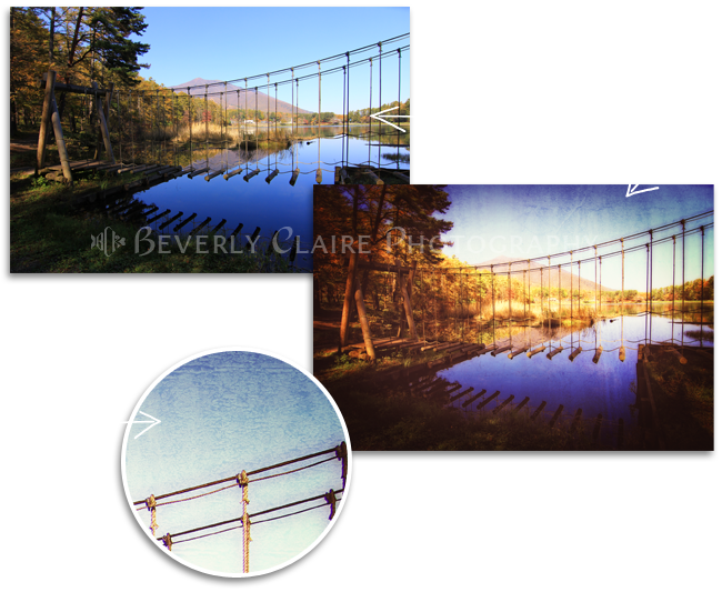 Cross the Wooden Bridge While Having Fun Before and After