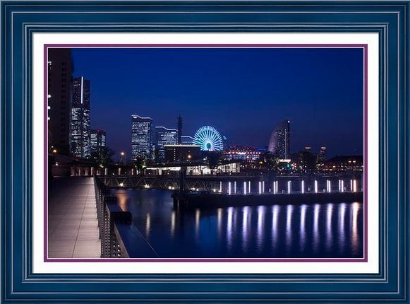 Yokohama Minatomirai at Night by Beverly Claire