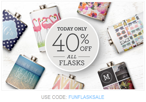 Zazzle Flask Coupon for 13 August 2014