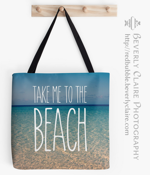Take Me to the Beach Ocean Summer Blue Sky Sand