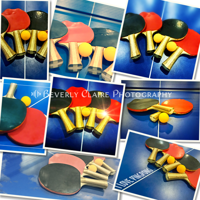 Ping-pong Bats Table Tennis Paddles Rackets on Blue