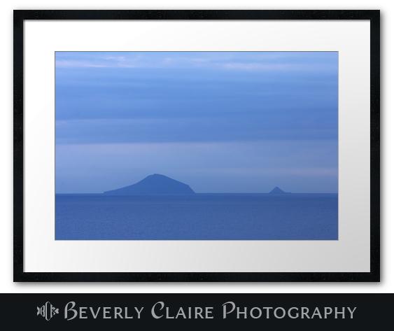 Blue Islands Off the Coast of Shimoda at Dawn