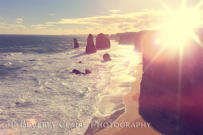 Twelve Apostles with Sun Flare at Port Campbell National Park