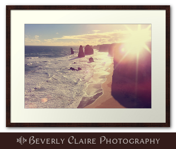 Port Campbell National Park Twelve Apostles with Sun Flare