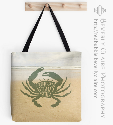 I Thrive Best Hermit Style Typography Crab Beach Sea