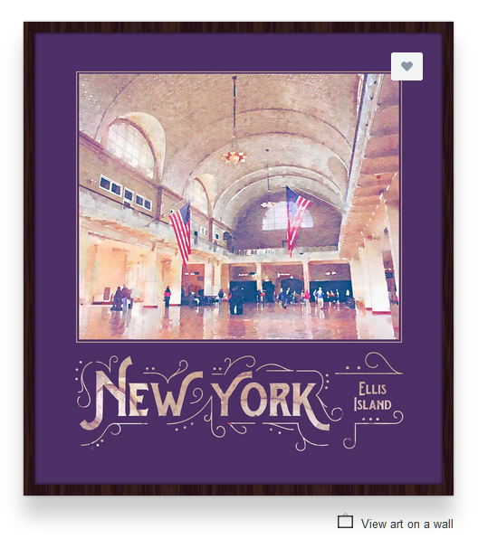 New York City Ellis Island Immigration Museum Digital Watercolor