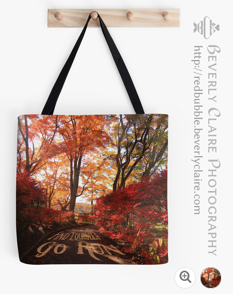 Find Yourself Go Run Autumn Leaves Fall Season