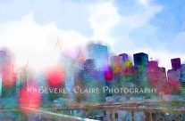 New York City Skyline Digital Watercolor