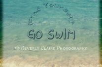 Find Yourself, Go Swim Tropical Beach Motivational Quote